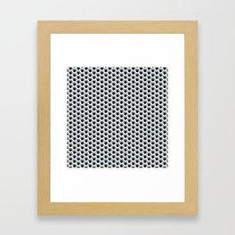 Hex shadow pattern  Framed Art Print