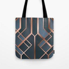 Dark Blue Art Deco Tote Bag