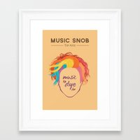 paramore Framed Art Prints featuring MORE Music to DYE for — Music Snob Tip #075.5 by Elizabeth Owens