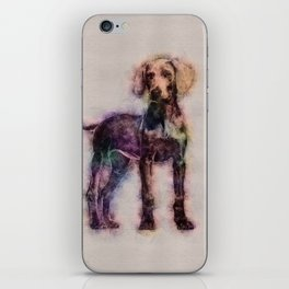 Weimaraner puppy sketch iPhone Skin