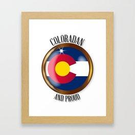 Colorado Proud Flag Button Framed Art Print