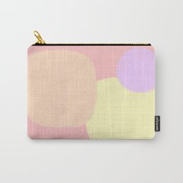 Let's Appreciate Our Shapes no.10 - pink modern minimalist art simple design Carry-All Pouch