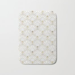 marble and gold art deco scales pattern Bath Mat