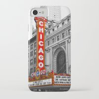 theater iPhone & iPod Cases featuring Chicago Theater by Chris Martin