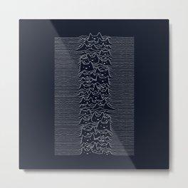 Furr Division Cats (Dark Blue) Metal Print
