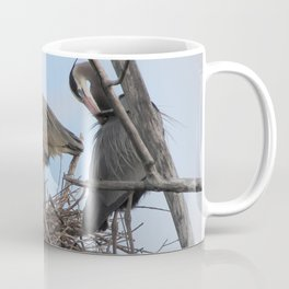 Great Blue Herons Nesting Coffee Mug