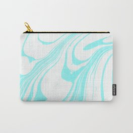 Blue Ink Swirl Marble Carry-All Pouch