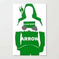 green arrow Canvas Prints featuring Green Arrow by Sport_Designs