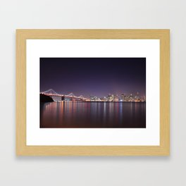 San Francisco skyline Framed Art Print