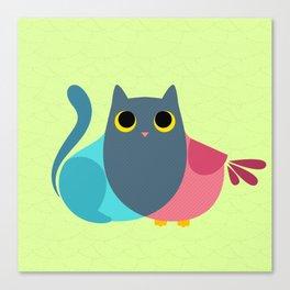Owlcat Venn Diagram Canvas Print