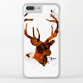 Antlers 006 Clear iPhone Case