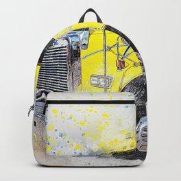 Truck Hauler Art Backpack