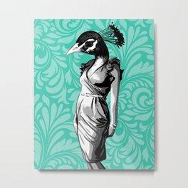 Ms. Peacock Metal Print