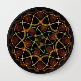 Spiral Round Black Wall Clock