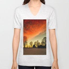 Dramatic Sunset Unisex V-Neck