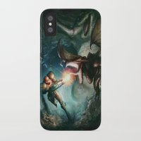 metroid iPhone & iPod Cases featuring Metroid by ImmarArt