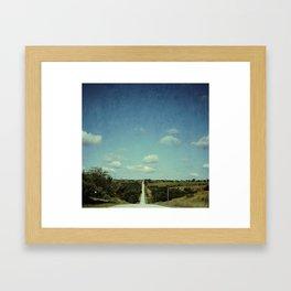 Iowa Road Framed Art Print