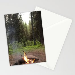 Backpacking Camp Fire Stationery Cards