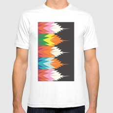 American Native Pattern No. 8 White Mens Fitted Tee MEDIUM