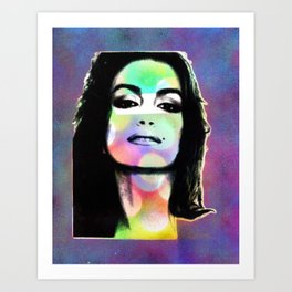 Sprayed Cindy Crawford Art Print