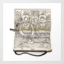 The Last Supper (Divers) Art Print