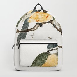 Blue Tit and a Great TIt by Johan Teyler (1648-1709) Backpack