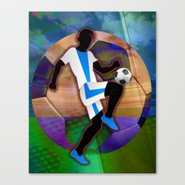 Soccer Player Silhouette Canvas Print