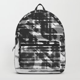 Aesthetic Urban Abstract Visual Art  Black And White Backpack