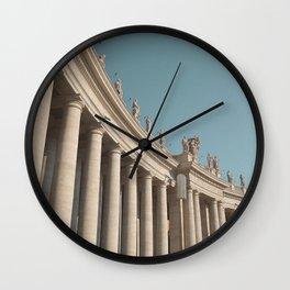 Views in Piazza San Pietro Wall Clock