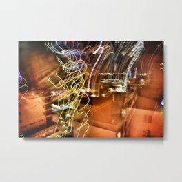 Shutter Speed Lights Metal Print