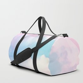 Cotton Candy Geometric Sky #homedecor #magical #lifestyle Duffle Bag
