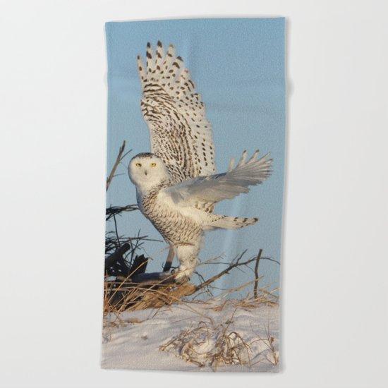 Snowy Ballerina Beach Towel