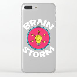 Problem Solving or Brainstorming Tshirt Design Brain storm Clear iPhone Case