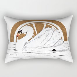 Swan golden sunset Rectangular Pillow