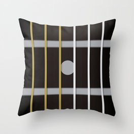 Guitar Neck Fretboard - Music Throw Pillow