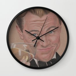 Leonardo Dicaprio as The Great Gatsby Wall Clock