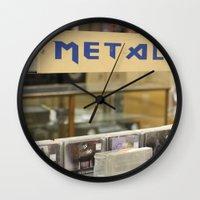 metal Wall Clocks featuring Metal by Bingz
