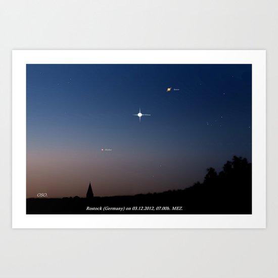 Southeast sky before sunset. Art Print