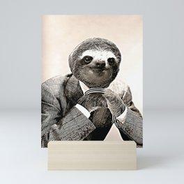 Gentleman Sloth with Assorted Pose Mini Art Print