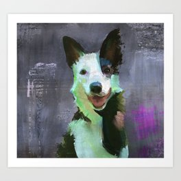 Border Collie, Smiling Art Print