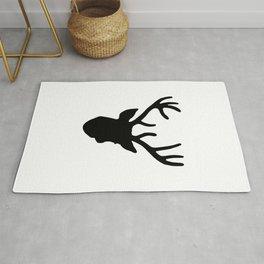 Deer Head: Black Rug