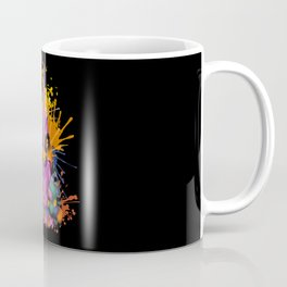 Chicken Face Color Splashes Coffee Mug