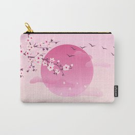 Japanese Cherry Blossom Pink Carry-All Pouch