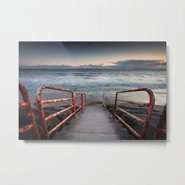 Aberavon beach handrail Metal Print