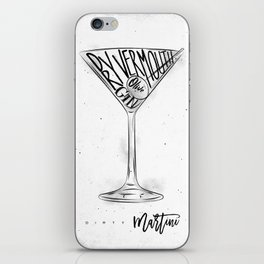 Dirty martini cocktail iPhone Skin