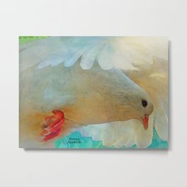 On the Wings of a Snow-White Dove Metal Print