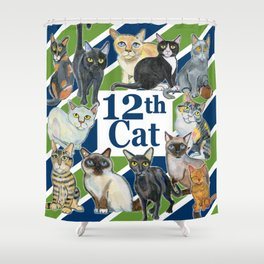 12th Cat Shower Curtain