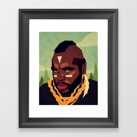 Childhood Hero Framed Art Print