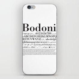 Bodoni (Black) iPhone Skin