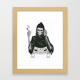 Cousin death Framed Art Print